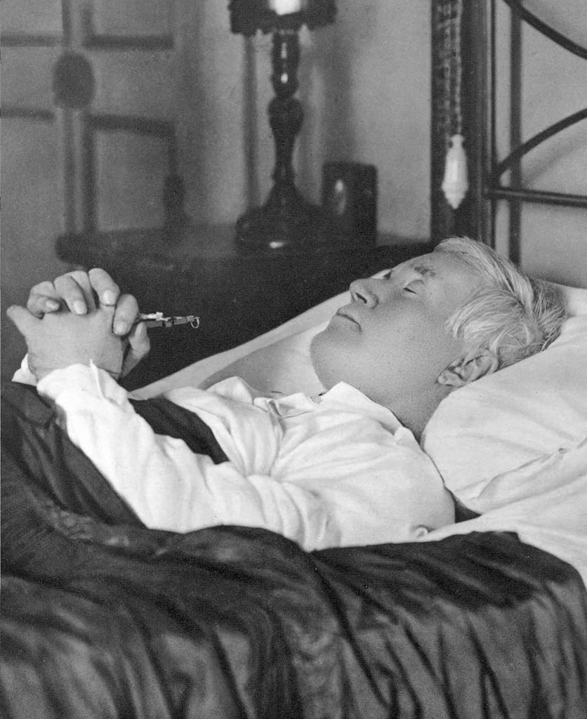 Pio X en su muerte, agosto de 1914, en un retrato de Felici