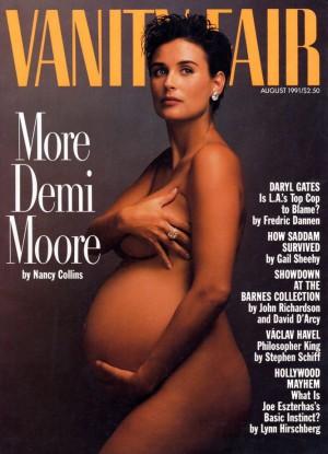Portada de Vanity Fair con Demi Moore embarazada