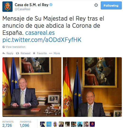 Discurso del rey Juan Carlos.