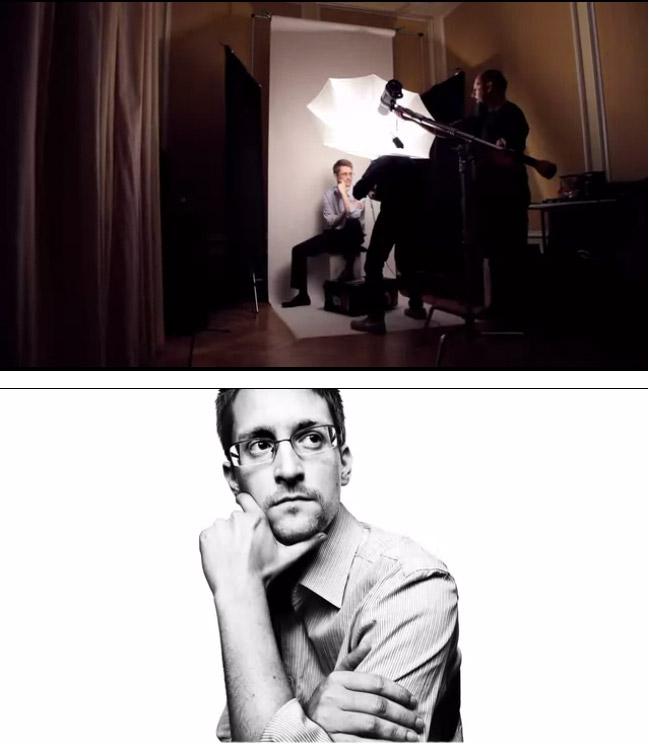 Esquema de luz de Platon durante al sesión a Snowden