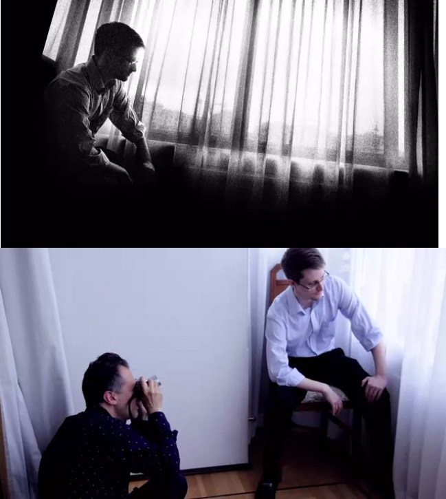 Platon fotografía a Snowden con una Leica.