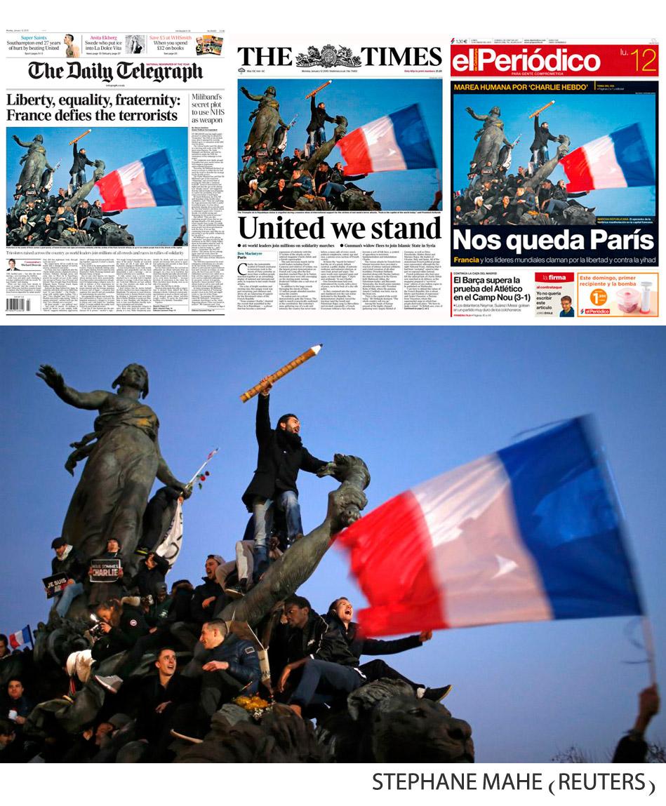 Place République. Foto de S. Mahe, para Reuters.